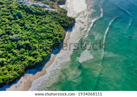 sea and river to sleep alone in punta mita nayarit Foto stock ©