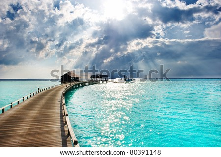 sea and sky. holiday background