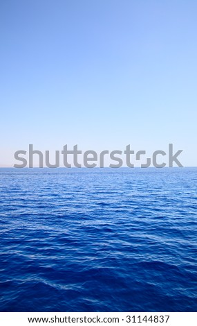 Sea and sky, may be used as background - stock photo
