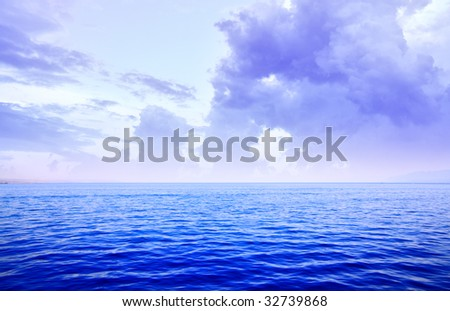 Sea and sky, may be used as background