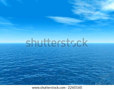 Sea and sky  view - 3d digital artwork. More in my portfolio.
