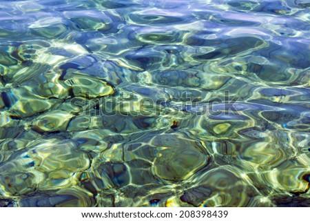Sea background -  rocks under a clean sea