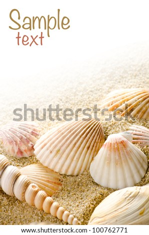 Sea background with place for text - stock photo