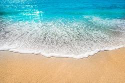 sea beach sand sun daylight relaxation landscape viewpoint for design postcard and calendar