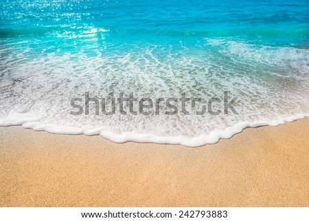 sea beach sand sun daylight relaxation landscape viewpoint for design postcard and calendar #242793883