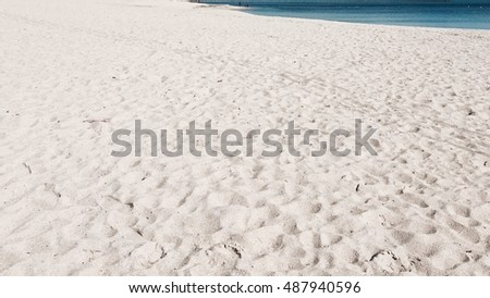 Sea Beach Sand Texture Background Beautiful Water