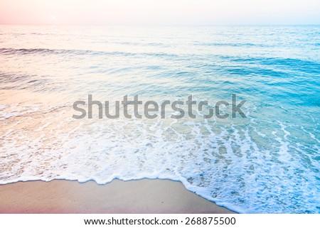 Sea beach - vintage filter and light leak effect