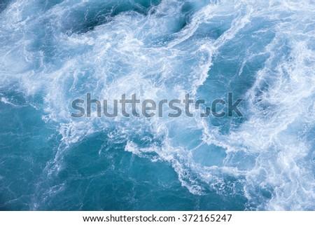 Sea blue fresh ocean water #372165247