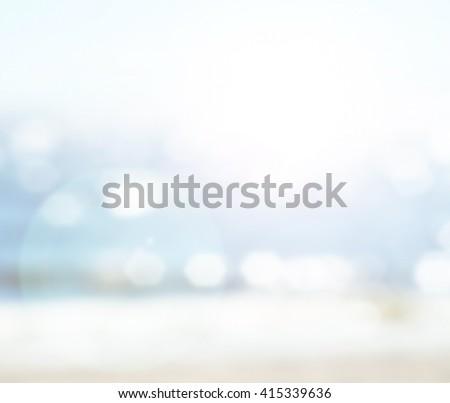 Sea bokeh blur background.