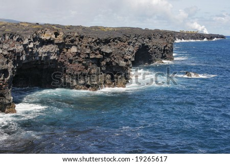 Sea Caves on the Shore