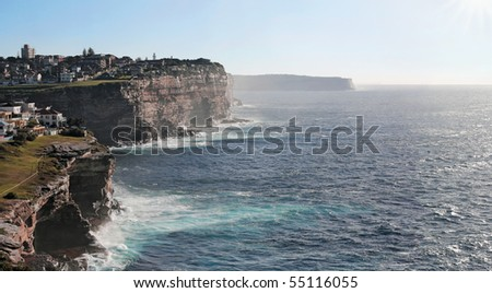 sea cliffs near Bondi Beach in Sydney, Australia