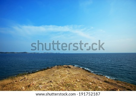 sea, clouds, blue sky, land #191752187
