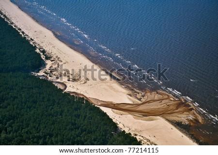 Sea coast of Riga Gulf