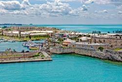 Sea departure from the former Royal Navy Dockyard on Ireland Island, Bermuda