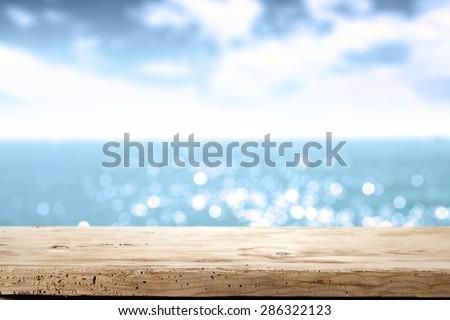sea desk and summer