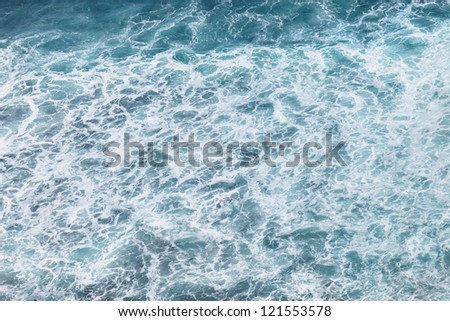 Sea foam in the surf zone - a natural water background