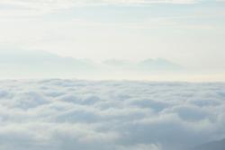 sea fog covers the mountain range - nan provinces - nan thailand - national parks nanthaburi