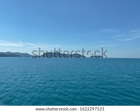 Sea from Koh Chang or Chang Island.