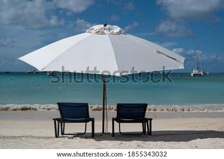 Sea front view in St Martin, Dutch Caribbean Сток-фото ©