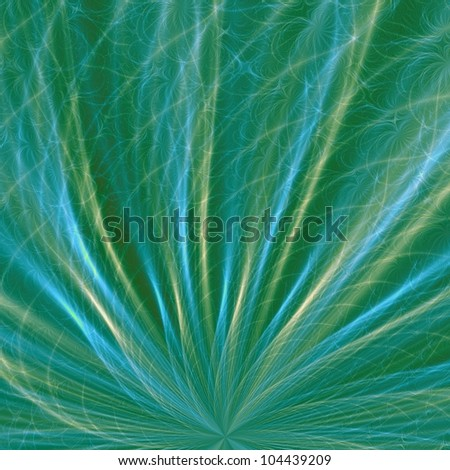 Sea Grass/Digital abstract image with a sea grass design in green, blue and yellow.