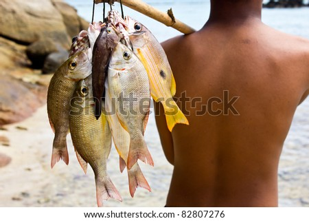 Sea Gypsies and andaman fish