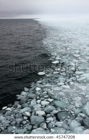 Sea ice edge