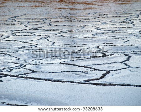 Sea ice edge nature in winter background image