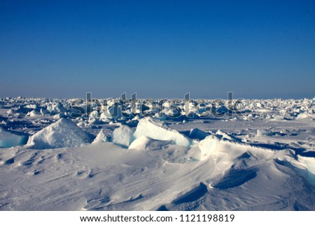 Sea ice off the coast of Barrow, Alaska
