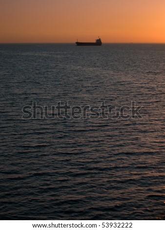 Sea in evening