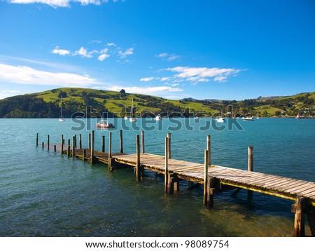 Sea in New Zealand - Akaroa