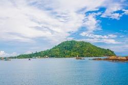Sea Island is a beautiful small fishing port kungkraben in Chanthaburi Thailand.