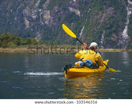 sea kayak in Milford Sound, New Zealand