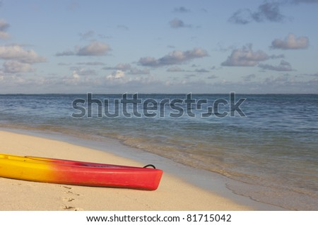 Sea Kayak on Beach - Rarotonga, Cook Islands, Polynesia