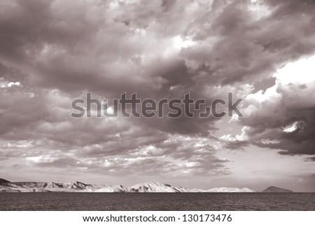 sea landscape background. Black Sea. Country Ukraine