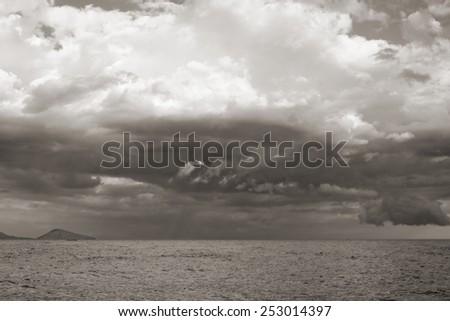 sea landscape background. Black Sea.  Ukraine