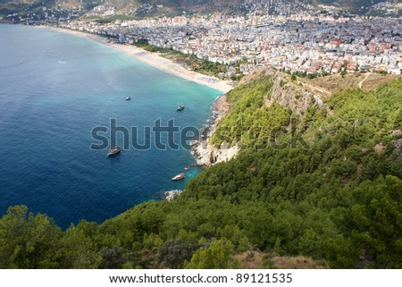 Sea landscape with view on Alanya