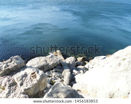 Sea landscapes images. Natural colors whitout redrints. Sea, rocky shorse, some plants and some sky.