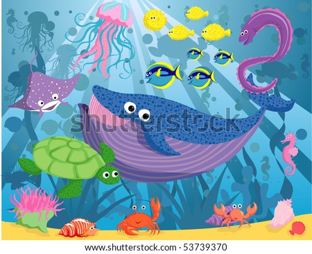 puffer fish cartoon. WHALE ORGA CARTOON