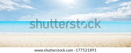 Sea morning panorama. Tropical horizontal composition #177521891