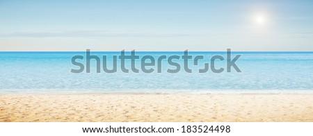Sea morning panorama. Tropical horizontal composition #183524498