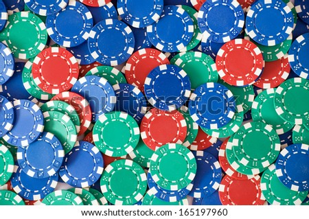 Sea of casino chips/Casino chips