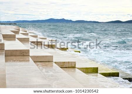 Sea Organ, an architectural sound art located in Zadar, Croatia