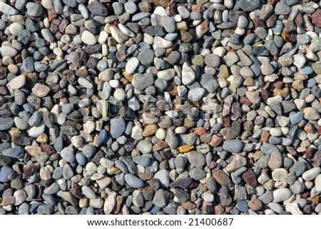 Sea pebble on a beach close up