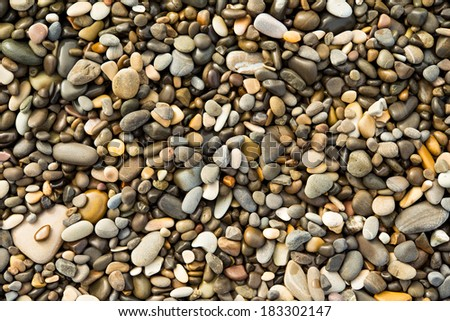 sea pebbles and stones, wet, texture, background