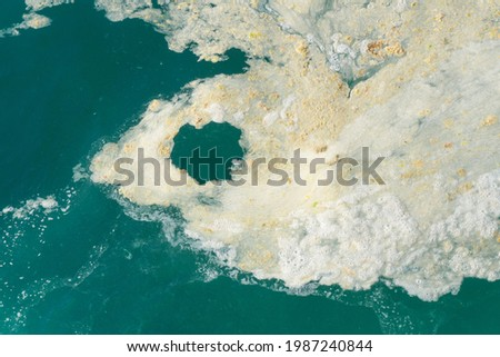 sea saliva mucilage which affects the Marmara sea and the coasts, negatively affects the natural life and the environment. Turkey Istanbul marmara sea