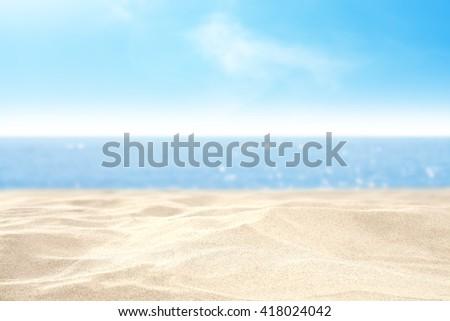 sea sand and sky  - Shutterstock ID 418024042