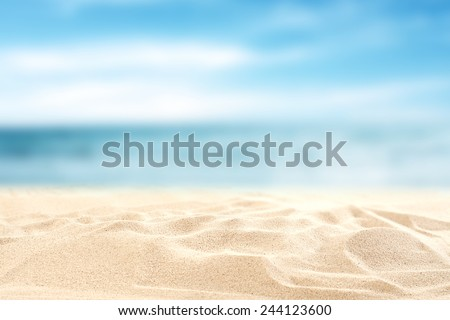 Stock Photo sea sand sky and summer day