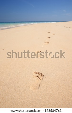 Sea sand sun beach for relax in holiday Thailand trail track spoor