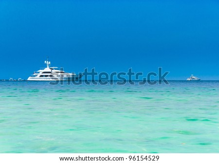 Sea Scene Modern Vessel stock photo