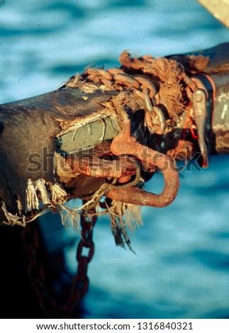 Sea shackle with sea background #1316840321